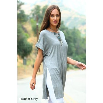 Solid Rayon Tunic Top