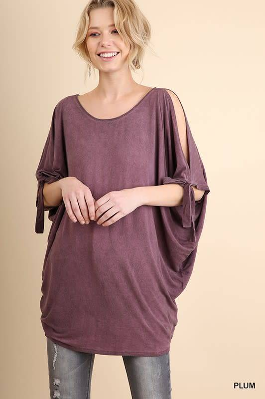 Washed Dolman Sleeve Tunic