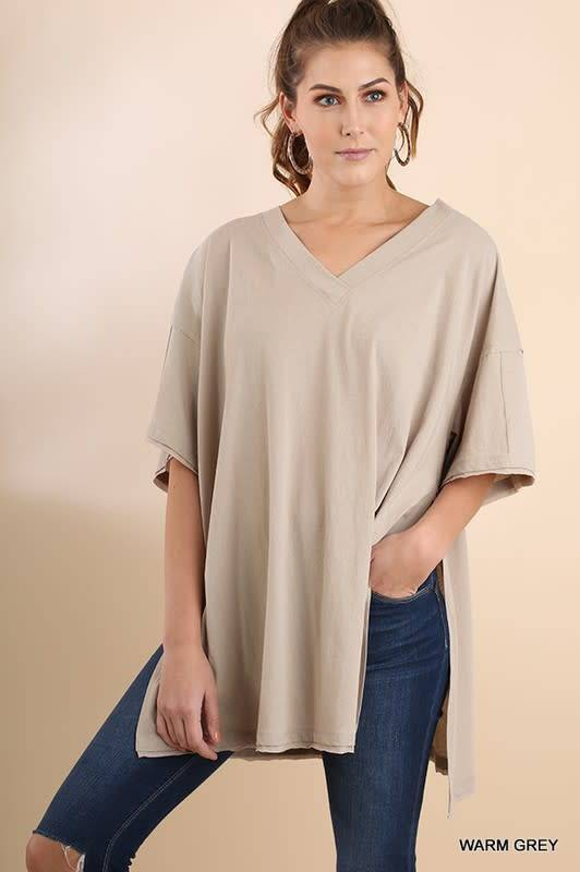 V-Neck With Side Slits