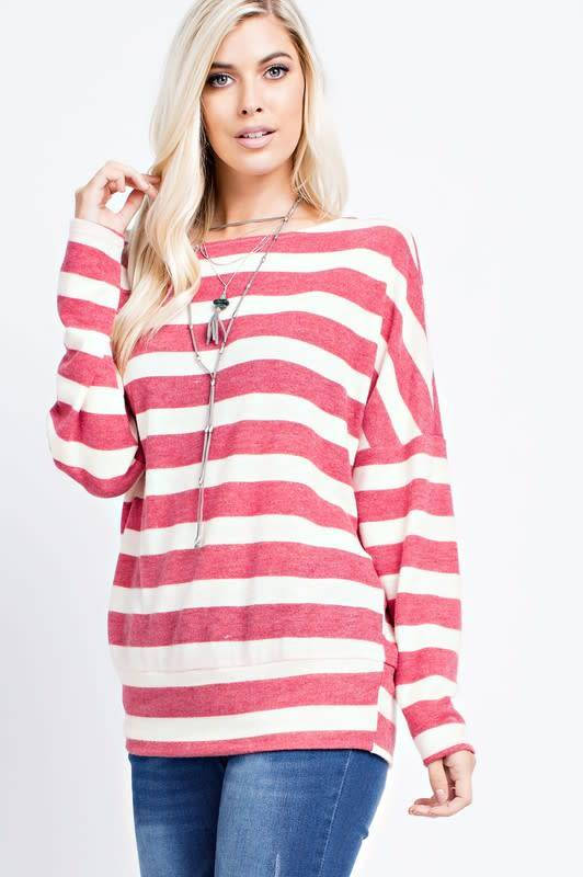 143 Story Striped Dolman Sleeve Top