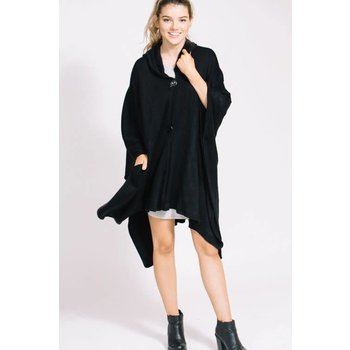 Lovoda Button Poncho