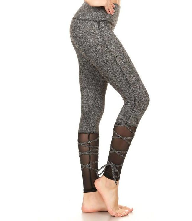 S&G Apparel Mesh Lace-up Leggings