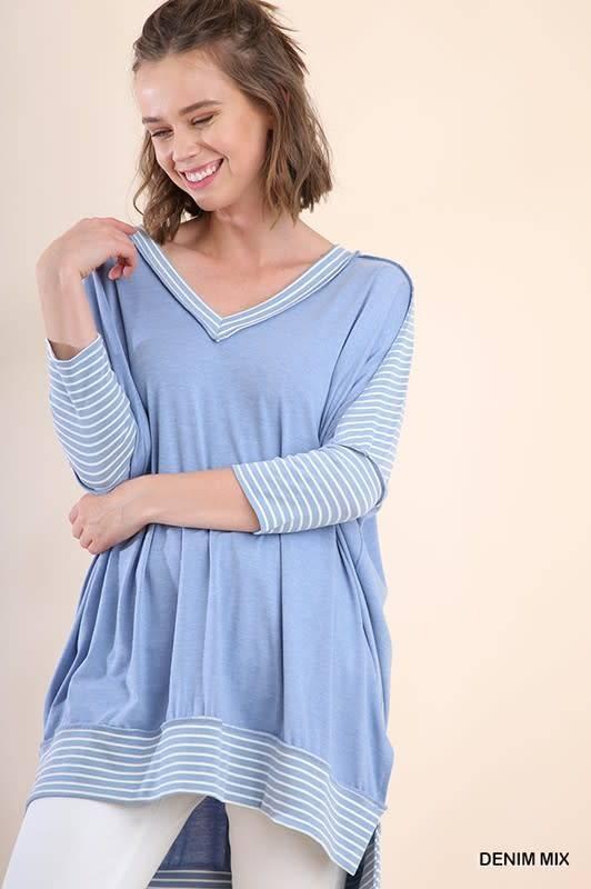 Stripe Sleeve Tunic