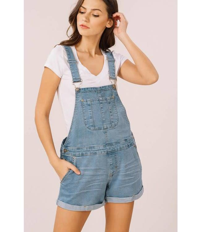 Listicle Denim Overall Shorts