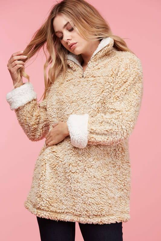 Two Tone Pullover Sherpa