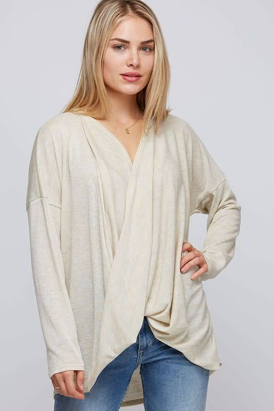Surplice Top with Dolman Sleeves