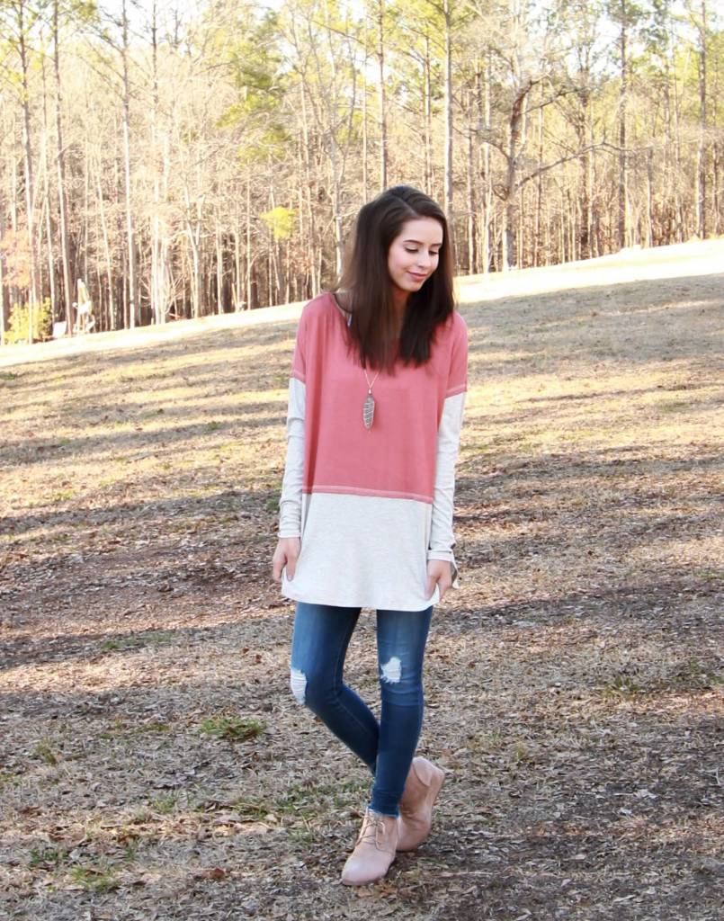 Sung Light Two-Color Tunic