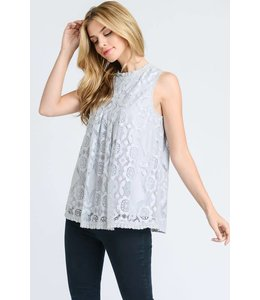 Doe & Rae Front Seam Detail Lace Top