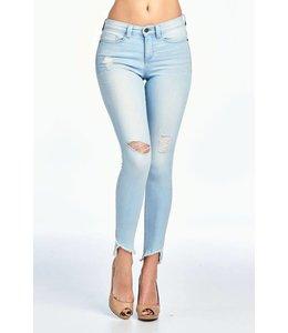 Sneak Peek Denim Mid-Rise Distressed Skinny Jeans
