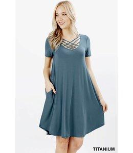 Zenana Lattice Dress