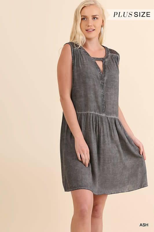 Washed Sleeveless Dress