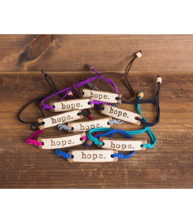 Mud Love Hope Adjustable Bracelet