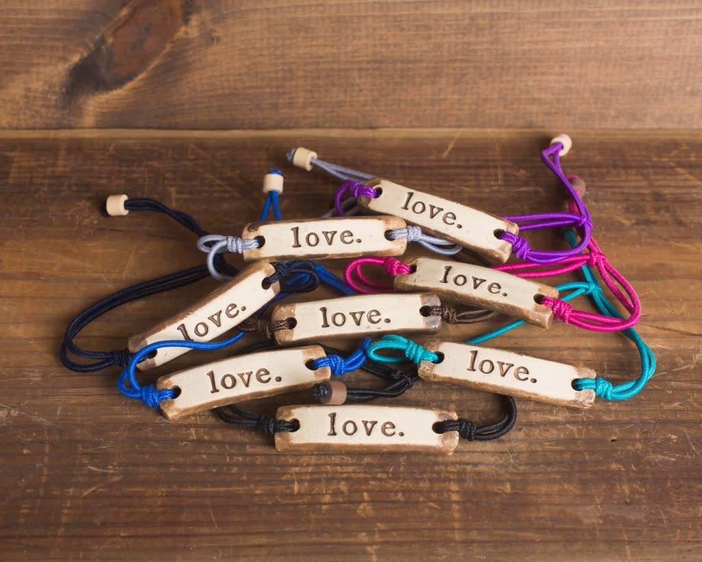 Mud Love Love Adjustable Bracelet