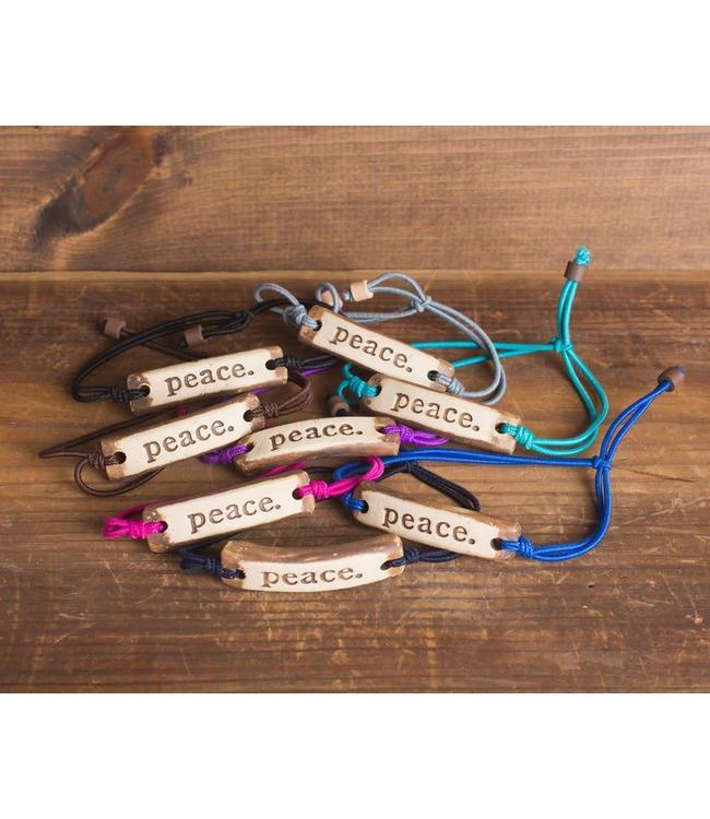 Mud Love Peace Adjustable Bracelet