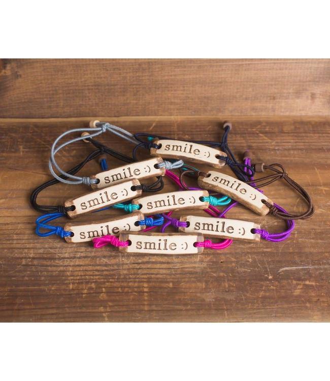 Mud Love Smile Adjustable Bracelet