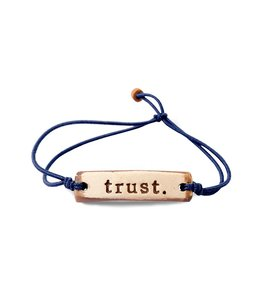 Mud Love Trust Adjustable Bracelets