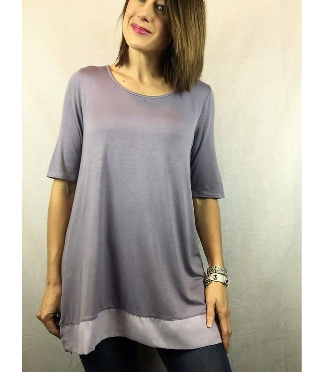 D and D Wholesale Chiffon Trim Top