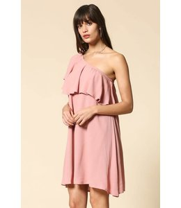 By Together Ruffle One Shoulder Dress