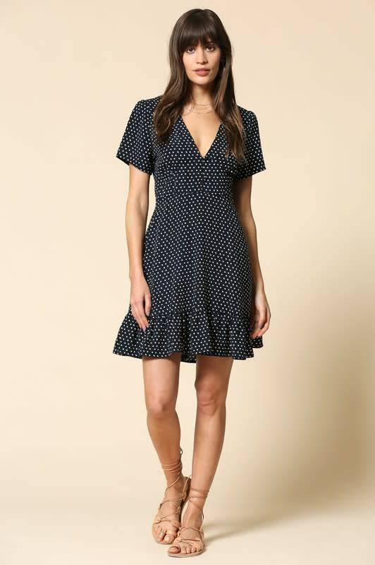 By Together V-Neck Ruffle Dress