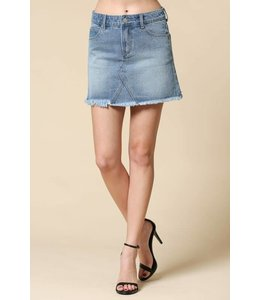 By Together High Waisted Denim Skirt