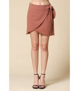 By Together Wrap Mini Skirt