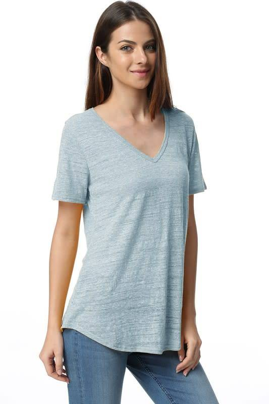 Tree People Piko Garment Dyed V-Neck