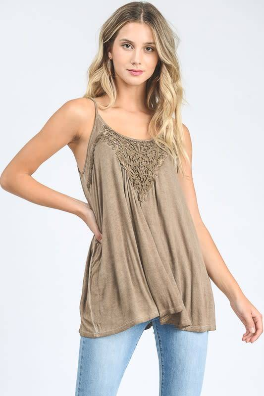 Hopely Lace Detail Tank