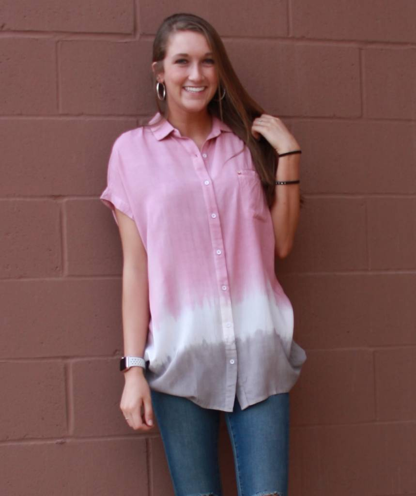 11 Degrees Ombre Button-Up