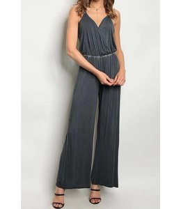 11 Degrees V Neck Washed Jumpsuit