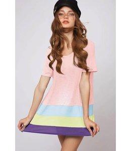 Stripe Color Block Tunic