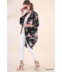Umgee Floral Cowl Kimono
