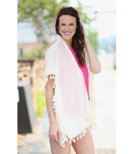 Caroline Hill Tassel Fringe Kimono