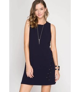 One Side Lace Up Dress