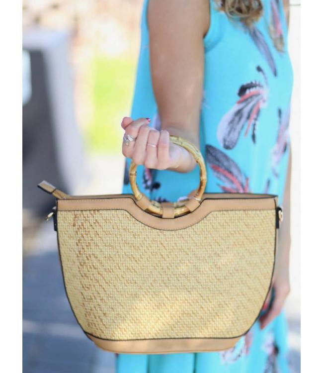 Caroline Hill Sunset Resort Woven Bag