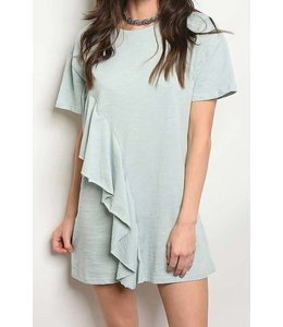 11 Degrees Crew Neck Ruffle Dress