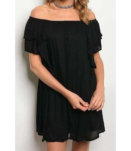 11 Degrees Off Shoulder Tiered Dress