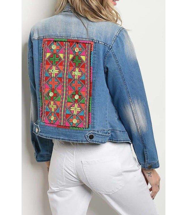 11 Degrees Embroidered Denim Jacket