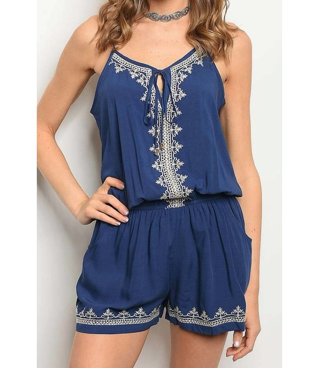 11 Degrees Embroidered Romper