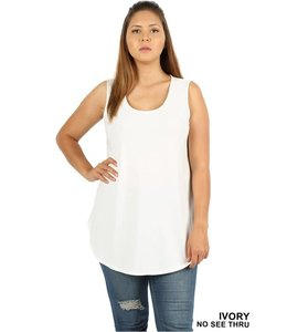 Rounded Sleeveless Top