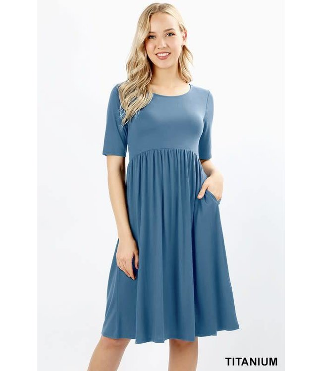Gathered Waist Dress