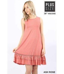 Plus Ruffle Hem Dress