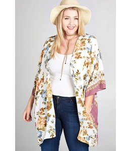 Oddi Plus Printed Knit Cardigan