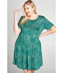 Oddi Plus Mineral Washed Knit Dress
