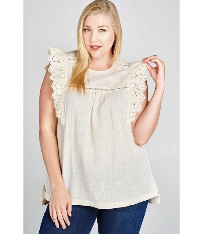 Oddi Plus Embroidered Blouse