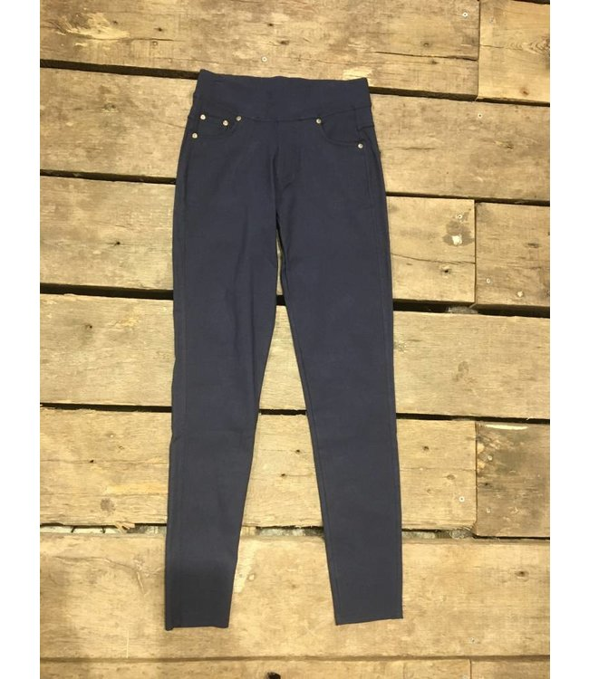 Stretch Skinny Pants Navy