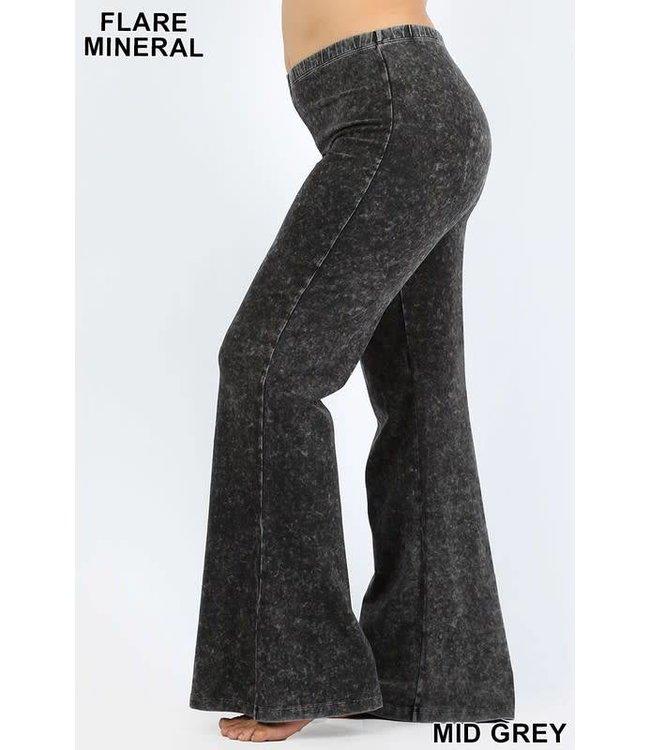 Mineral Wash Flare Pants