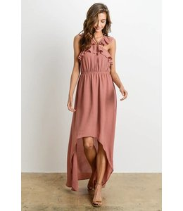 Charme U Ruffle High Low Dress