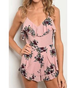 11 Degrees V-Neck Ruffle Romper