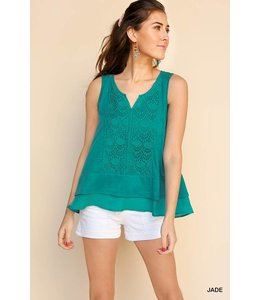 Umgee Sleeveless Crochet Top