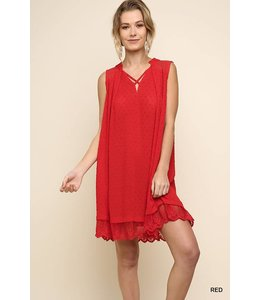Umgee Keyhole A-Line Dress